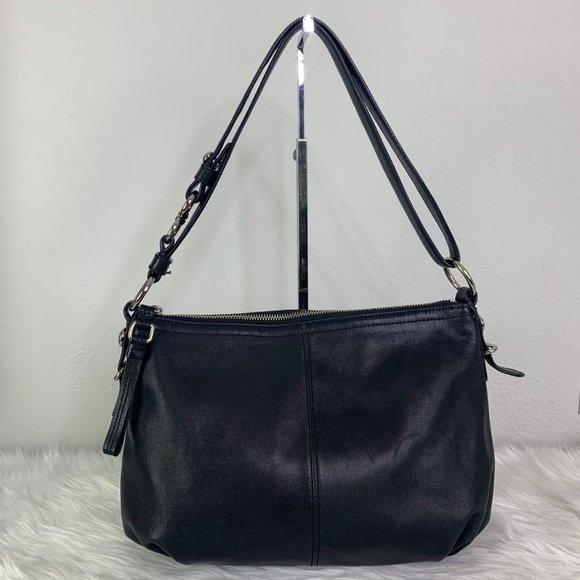 Coach Mia Convertible 15729 Black Leather Hobo Bag